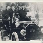 R.E. driving President Rosevelt in a 1908 REO